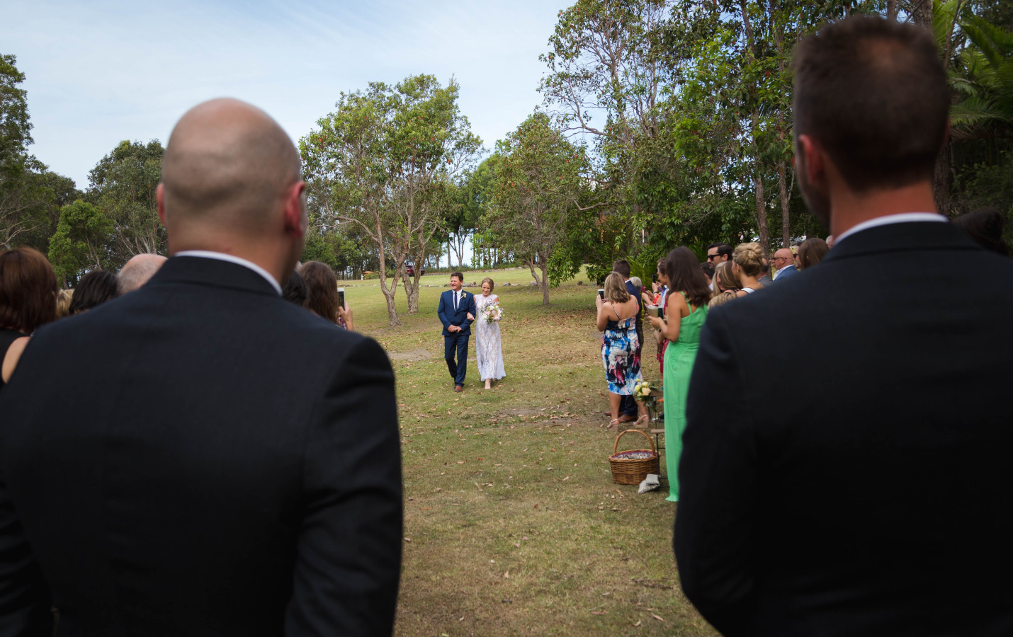 George and Ebony walking down the aisle