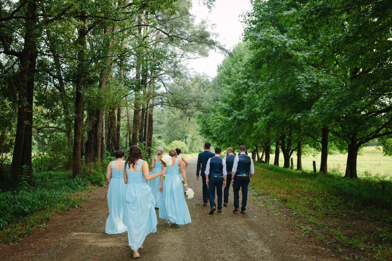 bridal-party-road-walking